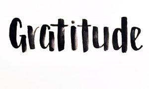 Word for 2018 GRATITUDE